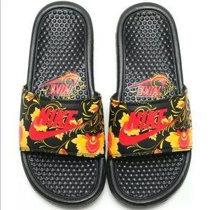 Nike Benassi JDI Floral Slides Sandals Tropical 6